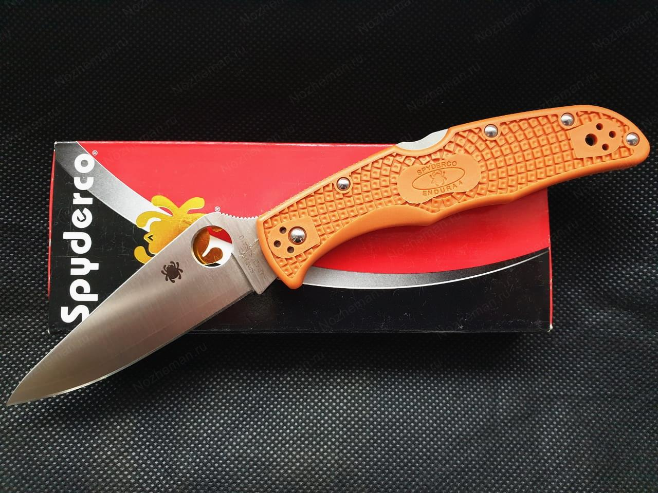 Spyderco Endura 4 Burnt Orange HAP40 1
