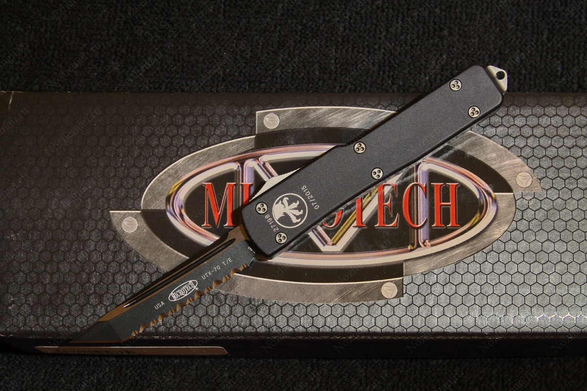 Microtech UTX-70 TE Black Full Serrated