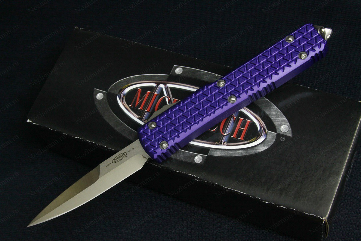 Microtech Ultratech Bayo Tri-Grip Purple Satin Standard
