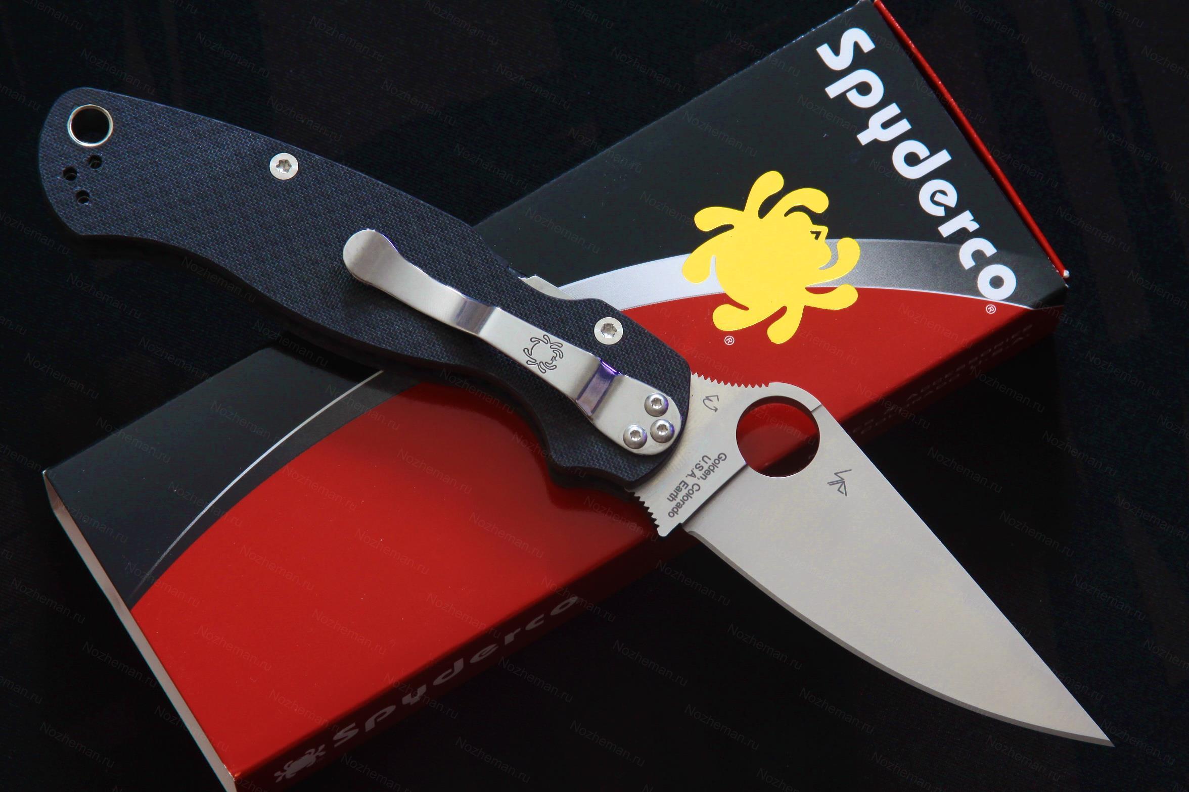 Spyderco Paramilitary 2 M4 Carbon Fiber Knifeworks Exclusive