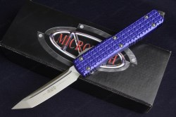 Microtech Ultratech Tri-Grip Tanto Satin Standard Purple 1