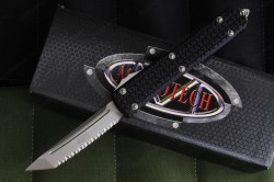 Microtech Ultratech Tri-Grip Tanto Full Serrated 1