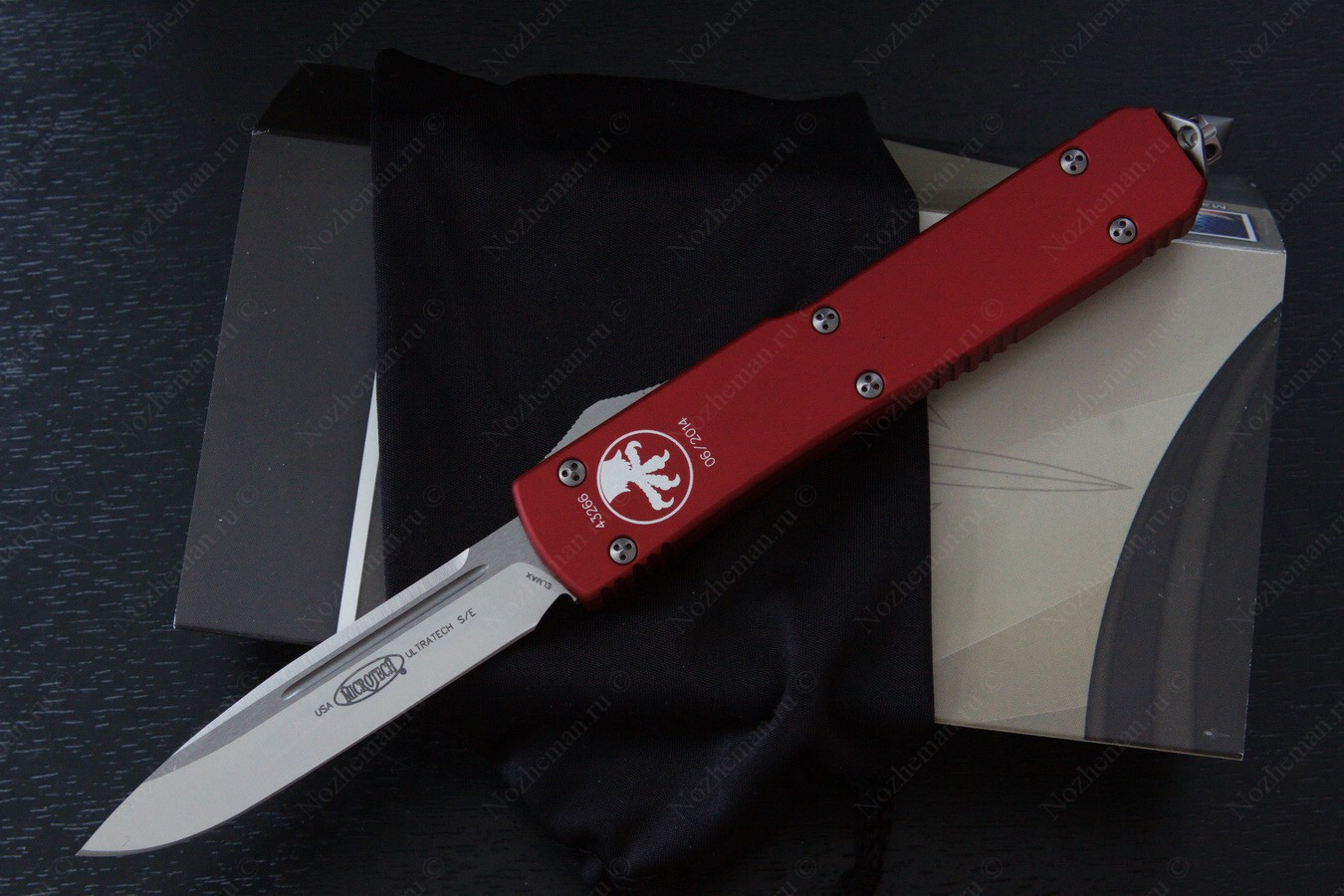 Microtech Ultratech Red Satin Standard